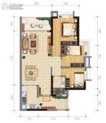 保利西悦湾3室2厅1卫89平方米户型图