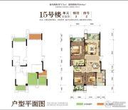 华宇上院74平方米户型图