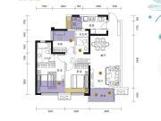 招商依云上城3室2厅1卫95平方米户型图