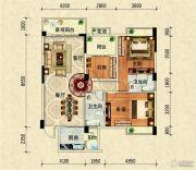 阳光西海岸3室2厅2卫110平方米户型图