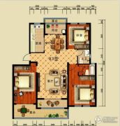 恒弘城3室2厅1卫0平方米户型图