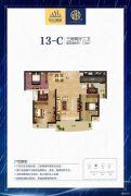深业世纪新城3室2厅2卫116平方米户型图