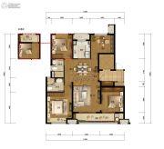 万科城蓝色东方4室2厅2卫129平方米户型图