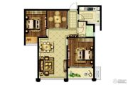 爱涛尚书云邸3室2厅1卫87平方米户型图
