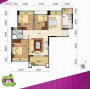 新都广场2室21厅1卫0平方米户型图