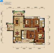 万盛・中央公馆4室2厅2卫140平方米户型图