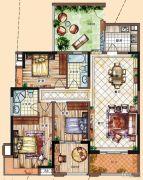 充耀盛荟3室2厅2卫134平方米户型图