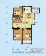 乾盛・慧泽园3室2厅1卫129平方米户型图