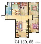 金鼎绿城3室2厅1卫130平方米户型图