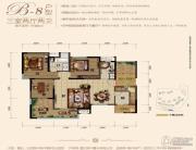 国兴北岸江山3室2厅2卫101平方米户型图