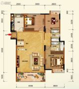 江畔大地2室2厅2卫117平方米户型图