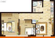 协鑫鑫尚2室1厅1卫56平方米户型图
