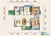 清风华园3室2厅2卫115平方米户型图