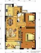 金城华府2室2厅1卫95平方米户型图