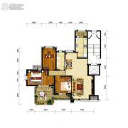 金地艺境3室2厅1卫108平方米户型图