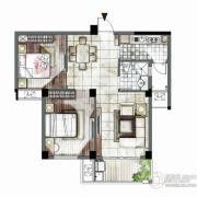 海西・未来区2室2厅1卫77平方米户型图
