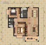 富恒・金鹏嘉苑二期2室2厅1卫86平方米户型图