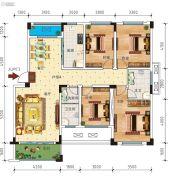 锦绣乾城4室2厅2卫115--136平方米户型图
