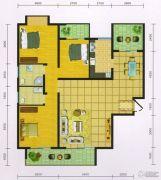 郧阳国际园3室2厅2卫136平方米户型图