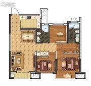 上城印象3室2厅2卫91平方米户型图