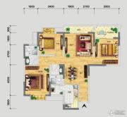 品阁3室2厅2卫113平方米户型图
