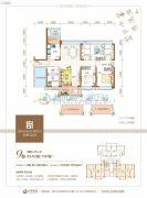 清晖嘉园4室2厅2卫146--148平方米户型图