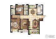 康桥悦岛3室2厅1卫128平方米户型图