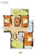 南海幸福汇2室2厅1卫88平方米户型图