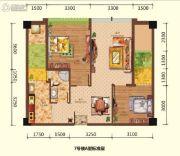 星岛国际2室2厅1卫77平方米户型图