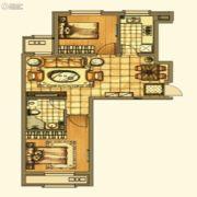 银亿格兰郡2室2厅1卫77平方米户型图