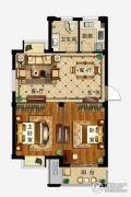 弘业・城市花园2室2厅1卫79平方米户型图