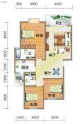 龙郡3室2厅2卫113平方米户型图