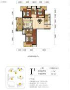 海赋长兴二期奥林阳光公园3室2厅2卫113平方米户型图