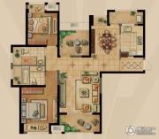 融侨观邸2室2厅2卫118平方米户型图