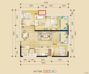 瑞鼎城3室2厅2卫115平方米户型图
