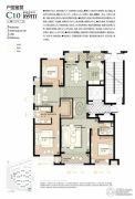 林荫大院3室2厅2卫169平方米户型图