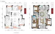 保利观唐3室2厅2卫121平方米户型图