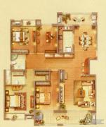 藏珑4室2厅3卫254平方米户型图