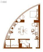经纬国际蚂蚁公寓1室1厅1卫86平方米户型图