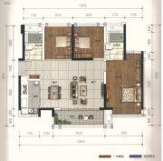 广佛颐景园3室2厅2卫88平方米户型图