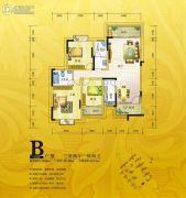 锦绣银湾3室2厅2卫111--128平方米户型图