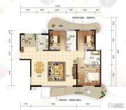 大都金沙湾3室2厅2卫135--143平方米户型图