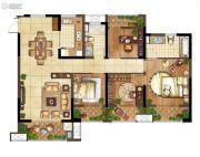 弘阳上水4室2厅2卫127平方米户型图