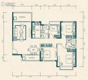 恒大世纪城4室2厅2卫114平方米户型图