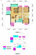 长乐星城4室2厅2卫134平方米户型图