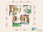 清风华园2室2厅1卫82平方米户型图