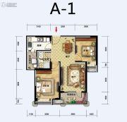 福星惠誉东湖城2室2厅1卫80平方米户型图