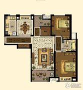 中交・南山美庐2室2厅1卫115平方米户型图