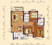 恒大御府3室2厅2卫114平方米户型图
