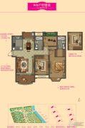 大名城3室2厅2卫124--128平方米户型图